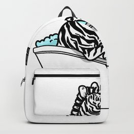 Bathtub zebra Backpack