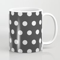 gold dots Mugs featuring Dots by NobuDesign