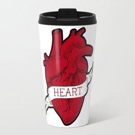 Human heart  tattoo style Travel Mug