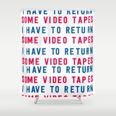 American Psycho - I have to return some video tapes Shower Curtain
