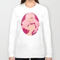 minnie Long Sleeve T-shirts featuring Merry Minnie by Petite Passerine