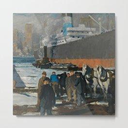 """George Wesley Bellows """"Men of the Docks"""" Metal Print"""