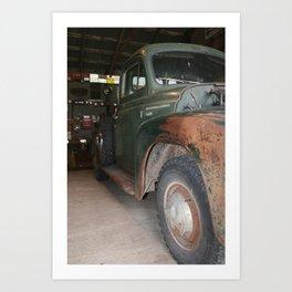 vintage classic rustic truck international Art Print
