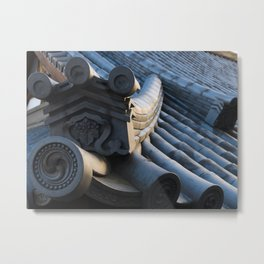 Japanese traditional temple roof Metal Print