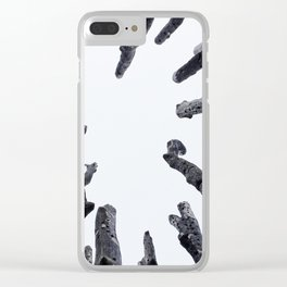 Circle of Trees Clear iPhone Case