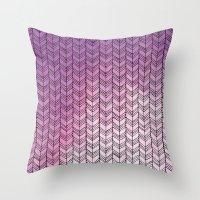 herringbone Throw Pillows featuring Herringbone by Tooth & Nail Designs