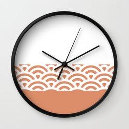 Rainbow Trim Orange Flame Wall Clock