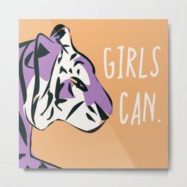 Girls can. 002 Metal Print
