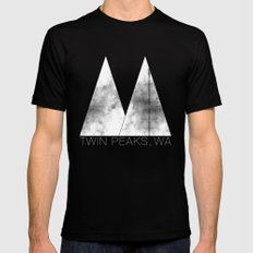 Twin Peaks, WA (White Lodge) LARGE Black Mens Fitted Tee