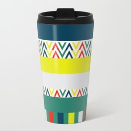 Festive happy stripes Travel Mug