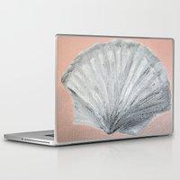 seashell Laptop & iPad Skins featuring Seashell by Lark Nouveau Studio