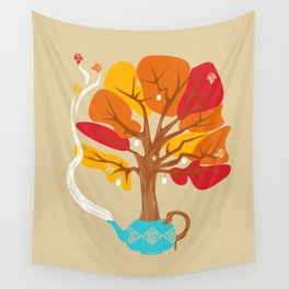 Tea Leaves Wall Tapestry