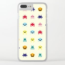 Space Aliens #1 Clear iPhone Case