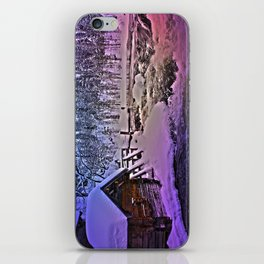 Water mill in Oulanka National Park iPhone Skin