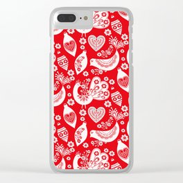Scandinavian Christmas Pattern 04 Clear iPhone Case