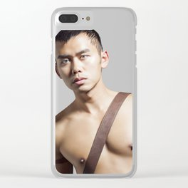 shirtless man Clear iPhone Case