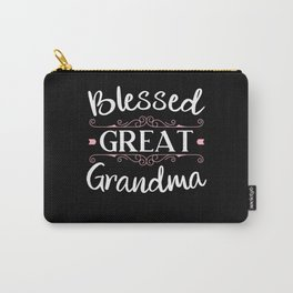 Blessed Great Grandma Grandmother Best Granny Ever Carry-All Pouch