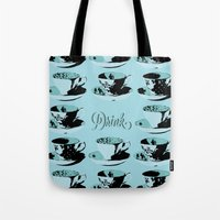 drink Tote Bags featuring Drink by Sheridan Designs