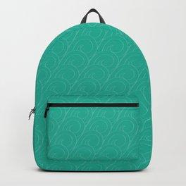 Tropical Life in Vintage Blue Backpack