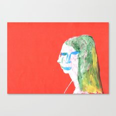 Helga in profile in full face Canvas Print