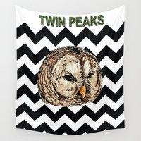 twin peaks Wall Tapestries featuring Twin Peaks by Avlis Leumas