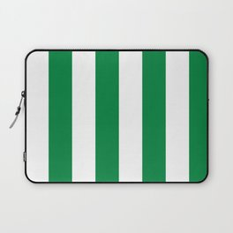 Classic Cabana Stripes in White + Kelly Green Laptop Sleeve