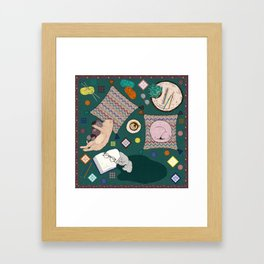 Hygge Kitten Framed Art Print
