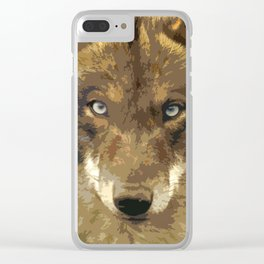 IBERIAN WOLF. Clear iPhone Case