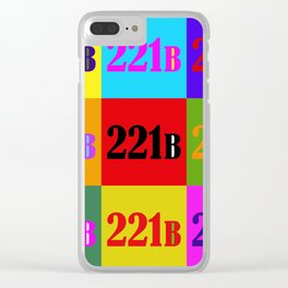 221B Color Block Clear iPhone Case
