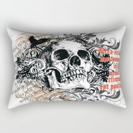 The life of the dead is retained in the memory of the living Rectangular Pillow