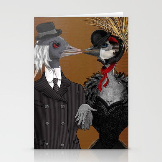 Demoiselle Crane and Grey Crowned Crane Stationery Cards