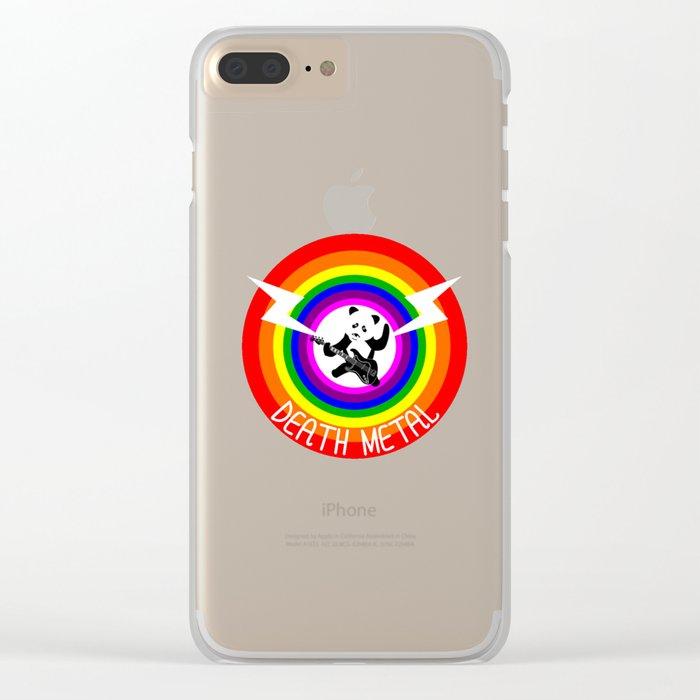 Death Metal Panda Clear iPhone Case