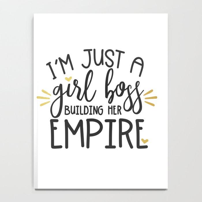 I'm Just A Girl Boss Notebook