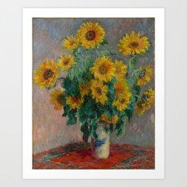 Claude Monet - Bouquet of Sunflowers (1881) Art Print