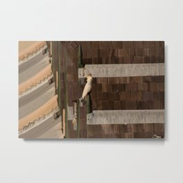 Rooftops and a Bird Metal Print