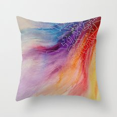 Rainbow Doodles Throw Pillow