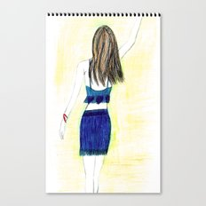 chic girl Canvas Print