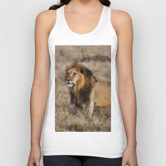 African Lion in Kenya Unisex Tank Top