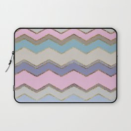 Multi Chevron and Brushed Gold Laptop Sleeve