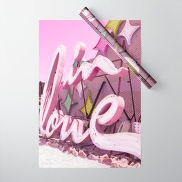 """Pink """"In Love"""" Sign at the Neon Museum in Las Vegas, Nevada Wrapping Paper"""