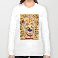 bukowski Long Sleeve T-shirts featuring Charles Bukowski by Kori Levy illustration & design