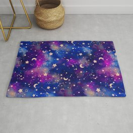 Zodiac - Watercolor Dark Rug