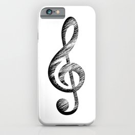 Distressed Music Clef iPhone Case