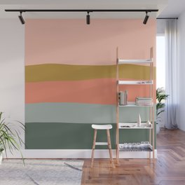 Zen Autumn Stripes Wall Mural