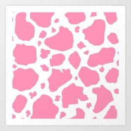 pink and white animal print cow spots Kunstdrucke
