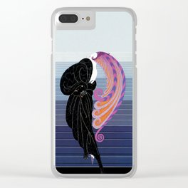 """Art Deco Illustration """"Beauty and the Beast"""" by Erté Clear iPhone Case"""