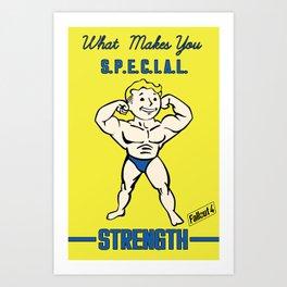 Strength S.P.E.C.I.A.L. Fallout 4 Art Print