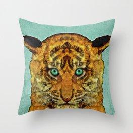 abstract tiger cub Throw Pillow