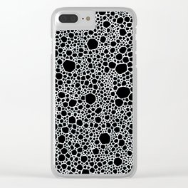 Black and White Foam Clear iPhone Case