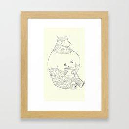 bears love honey Framed Art Print